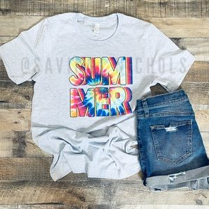 Summer Tie Dye Graphic Tee Size Small